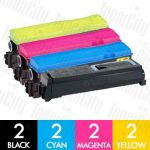 Non-Genuine alternative for Kyocera TK-574 8 Pack Toner Cartridges Combo