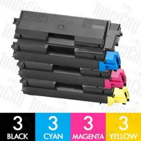 Non-Genuine alternative for TK-594 12 Pack Toner Cartridge Suitable for Kyocera FS-C2026MFP,C2126MFP,C2526MFP,C2626MFP,C5250DN, M-6026CDN, M-6526CDN, P-6026CDN