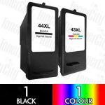 Lexmark 44XL Black + 43XL Colour High Yield (2 Pack) Compatible Inkjet Cartridge Combo