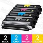 OKI 44250705-44250708 (C110/C130N/MC160N) 8 Pack Compatible Toner Cartridge Combo