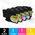 Compatible Brother LC-3339XL High Yield 5 Pack Inkjet Cartridge Combo