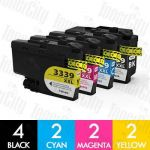 Compatible Brother LC-3339XL High Yield 10 Pack Inkjet Cartridge Combo