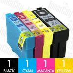 Epson 140 High Yield 4 Pack Compatible Inkjet Cartridge Combo