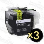 Compatible Brother LC-3317BK Black 3 Pack Inkjet Cartridge