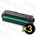Samsung CLT-K506L Black 3 Pack Compatible Toner Cartridge