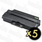 Samsung MLT-D103L Black 5 Pack Compatible Toner Cartridge