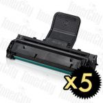 Samsung SCX-4521D3 Black 5 Pack Compatible Toner Cartridge