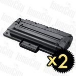 Samsung SCX-D4200A Black 2 Pack Compatible Toner Cartridge