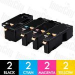 Compatible Fuji Xerox CT202264-CT202267 (Docuprint CM115/CP115/CP116/CM225/CP225) High Yield 8 Pack Toner Cartridges