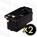 Compatible Fuji Xerox CT202264 (Docuprint CM115/CP115/CP116/CM225/CP225) Black High Yield 2 Pack Toner Cartridge