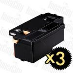 Compatible Fuji Xerox CT202264 (Docuprint CM115/CP115/CP116/CM225/CP225) Black High Yield 3 Pack Toner Cartridge