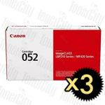 Canon CART-052 Black 3 Pack Genuine Toner Cartridge