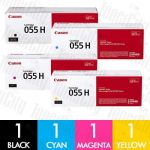 Canon CART-055H High Yield 4 Pack Genuine Toner Cartridge Combo