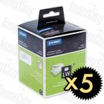 5 x Dymo SD99012 (36mm x 89mm) White Genuine Label Roll