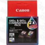 Canon PG640XLCL641XL Twin Pack High Yield Genuine Inkjet Cartridge