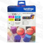 Brother LC-133PVP Photo Value Pack Genuine Inkjet Cartridge