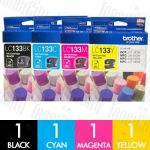Brother LC-133 4 Pack Genuine Inkjet Cartridge Combo