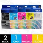 Brother LC-139XL + LC-135XL Extra High Yield 5 Pack Genuine Inkjet Cartridge Combo