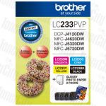Brother LC-233PVP Photo Value Pack Genuine Inkjet Cartridge