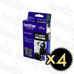 Brother LC-38BK Black 4 Pack Genuine Inkjet Cartridge