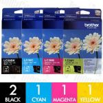 Brother LC-39 5 Pack Genuine Inkjet Cartridge Combo
