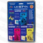 Brother LC-57CL3PK C,M,Y Colour Value Pack Genuine Inkjet Cartridge