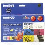 Brother LC-57PVP Photo Value Pack Genuine Inkjet Cartridge