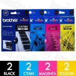 Brother LC-57 8 Pack Genuine Inkjet Cartridge Combo