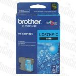 Brother LC-67HYC Cyan High Yield Genuine Inkjet Cartridge