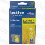 Brother LC-67HYY Yellow High Yield Genuine Inkjet Cartridge