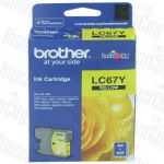 Brother LC-67Y Yellow Genuine Inkjet Cartridge