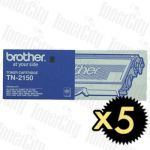 Brother TN-2150 5 Pack Genuine Toner Cartridge