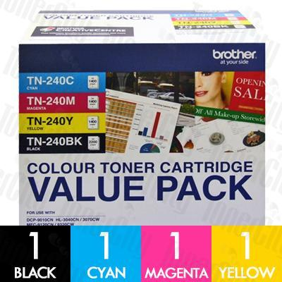 Brother TN-240CL4PK Value Pack Genuine Toner Cartridge Combo