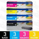 Brother TN-251 + TN-255 (12 Pack) Genuine Toner Cartridge Combo