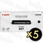 Canon CART-307BK Black 5 Pack Genuine Toner Cartridge