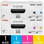 Canon CART-322 4 Pack Genuine Toner Cartridge Combo