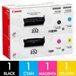 Canon CART-332 4 Pack Genuine Toner Cartridge Combo
