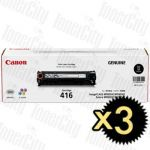 Canon CART-416BK Black 3 Pack Genuine Toner Cartridge