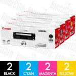Canon CART-418 8 Pack Genuine Toner Cartridge Combo