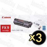 Canon FX-9 3 Pack Genuine Toner Cartridge