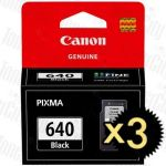 Canon PG-640 Black 3 Pack Genuine Inkjet Cartridge