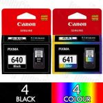 Canon PG-640XL + CL-641XL High Yield (8 Pack) Genuine Inkjet Cartridge Combo