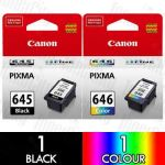 Canon PG-645 + CL-646 (2 Pack) Genuine Inkjet Cartridge Combo