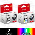 Canon PG-645XL + CL-646XL High Yield (3 Pack) Genuine Inkjet Cartridge Combo