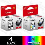 Canon PG-645XL + CL-646XL High Yield (8 Pack) Genuine Inkjet Cartridge Combo