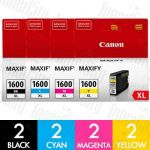 Canon PGI-1600XL High Yield 8 Pack Genuine Inkjet Cartridge Combo