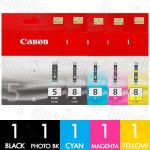 Canon PGI-5 + CLI-8 (5 Pack) Genuine Inkjet Cartridge Combo