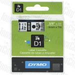 Dymo SD40910 (9mm x 7m) Black Text on Clear Genuine Label Cassette