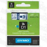 Dymo SD40914 (9mm x 7m) Blue Text on White Genuine Label Cassette