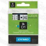 Dymo SD53713 (24mm x 7m) Black Text on White Genuine Label Cassette